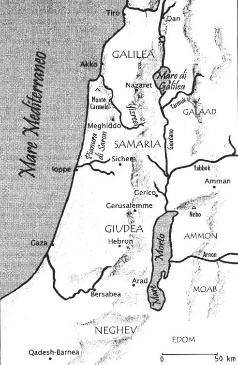 Cartina Fisica Palestina.La Terra Della Bibbia