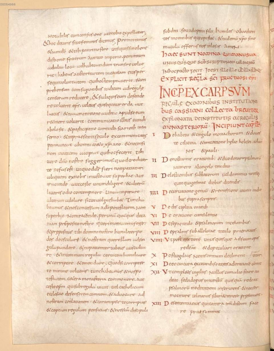 Benedetto di Aniane: Codex regularum - Manoscritto Clm 28118